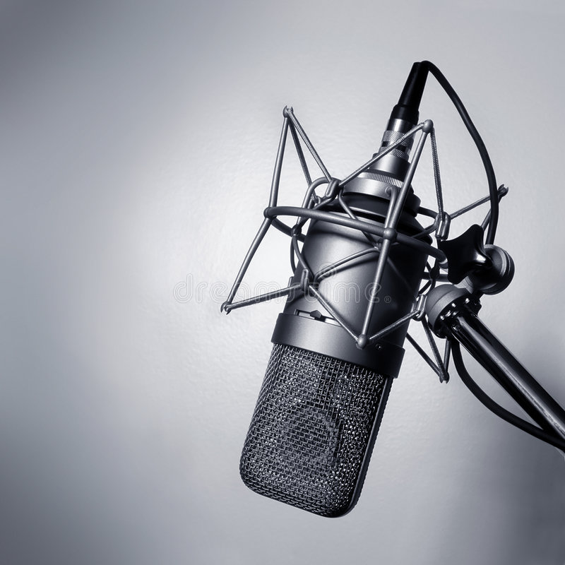 Studio Microphone stock photography