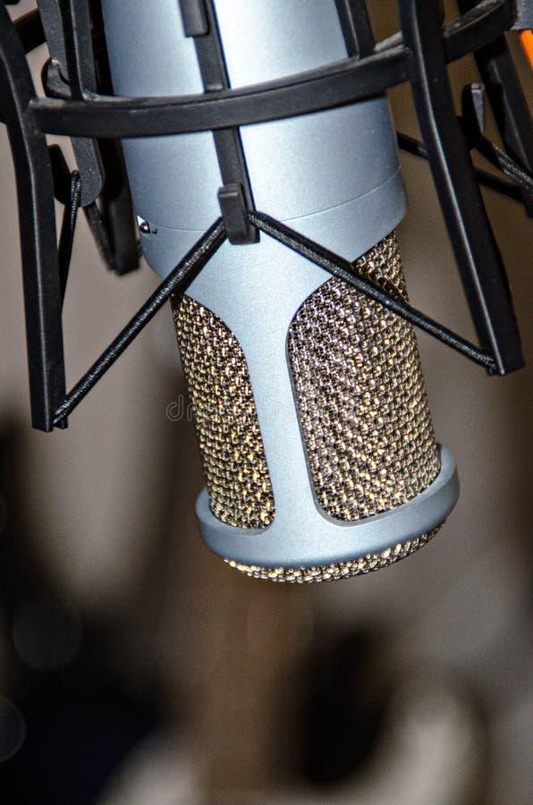 Studio Microphone. Closeup of a studio condenser microphone stock photo