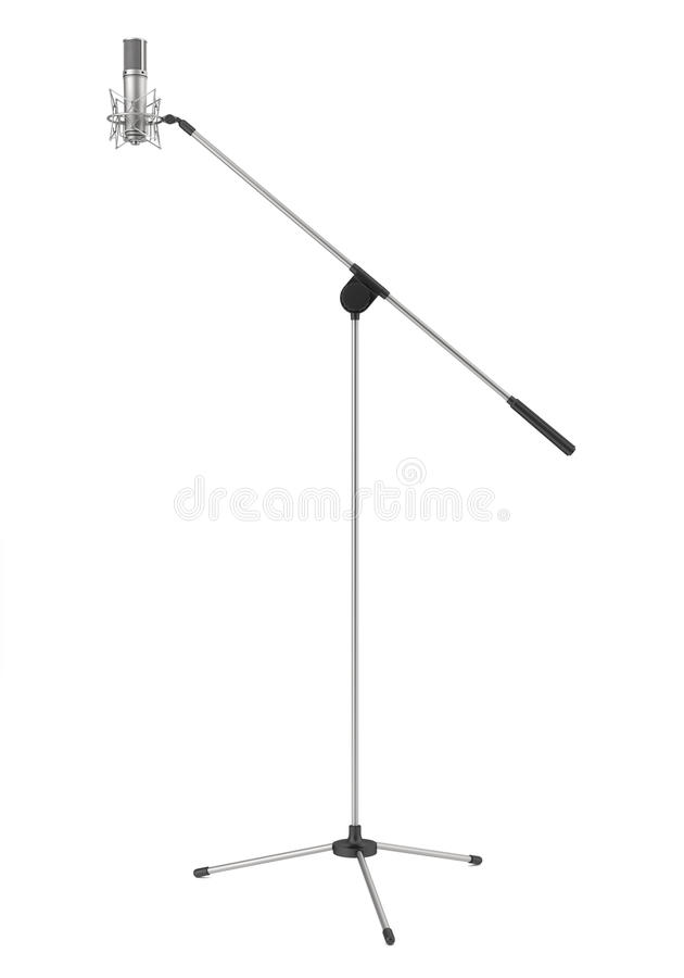 Studio microphone isolated on white royalty free illustration
