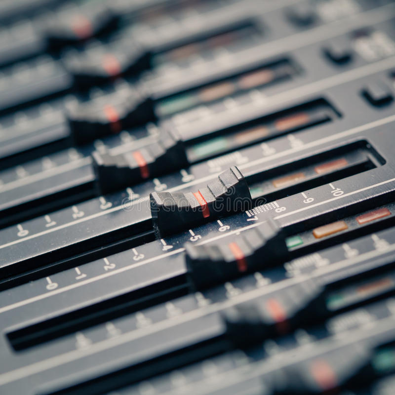 Download Studio mixer stock photo. Image of device, button, engineer - 26034368