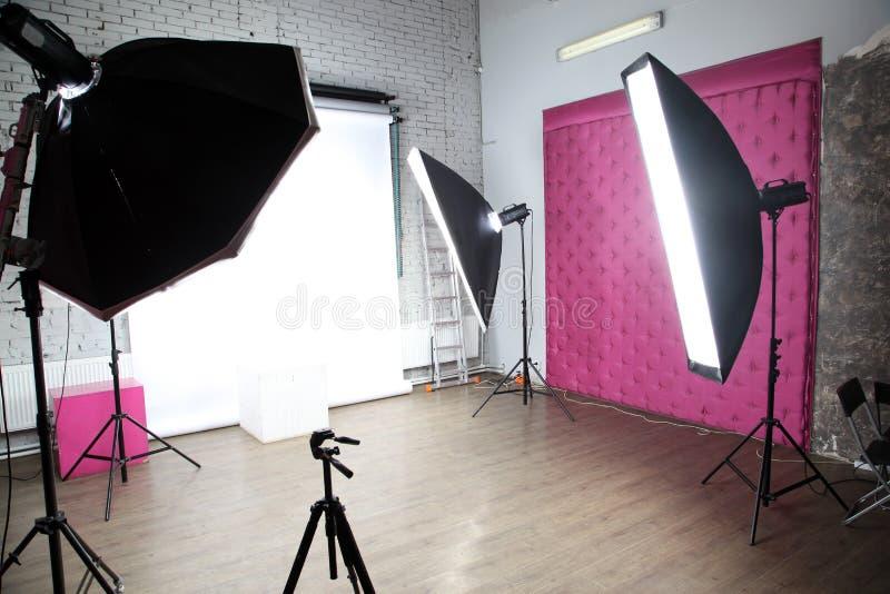 Studio moderne de photo photographie stock