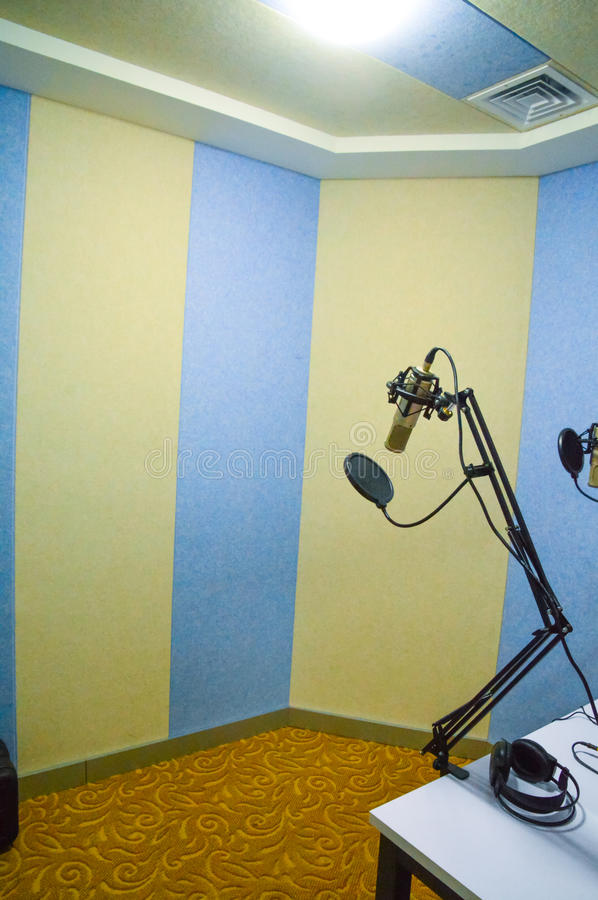 Studio nagrań pokój obrazy royalty free