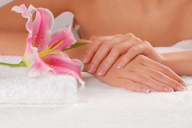 Studio nail stock photo