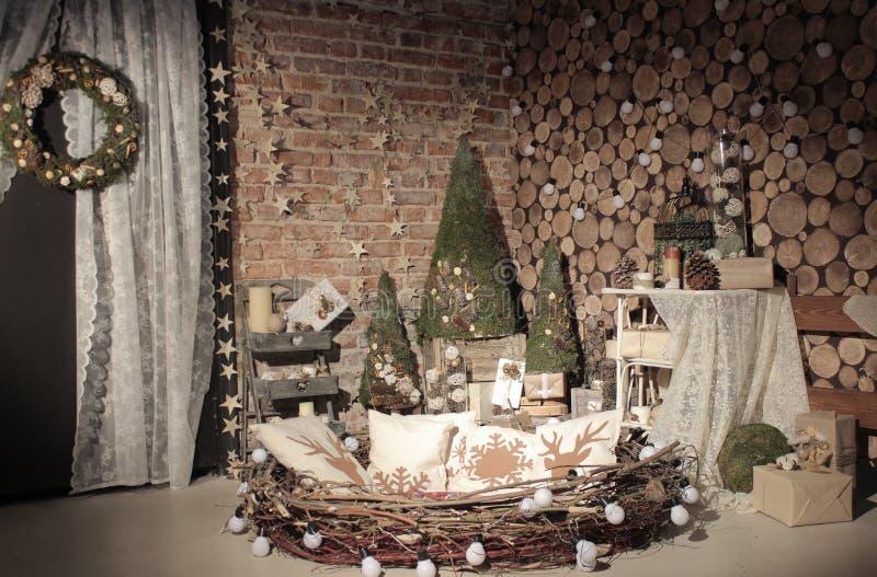 Studio naturel d'arbre de nouvelle année photographie stock