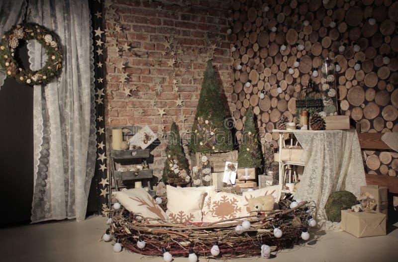 Studio naturel d'arbre de nouvelle année photos stock