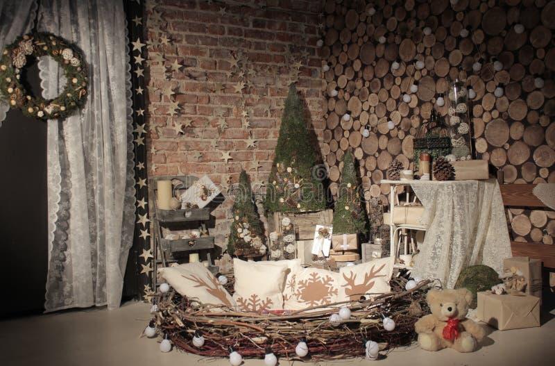 Studio naturel d'arbre de nouvelle année image stock