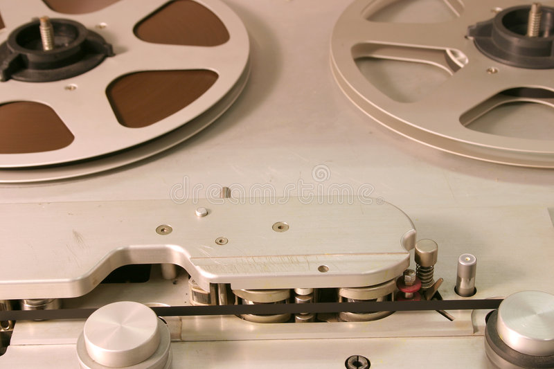 Studio Open Reel Tape Deck royalty free stock photography
