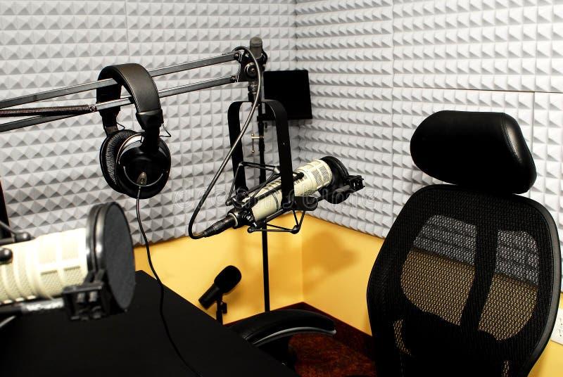 Studio par radio du DJ image libre de droits