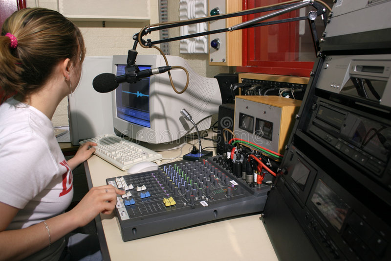 Studio par radio sur l'air photos stock