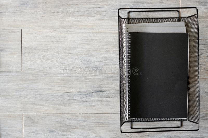 Office Tray. A studio photo of an office tray stock photography