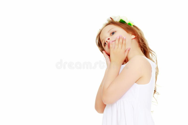 Portrait of a beautiful little girl royalty free stock photo
