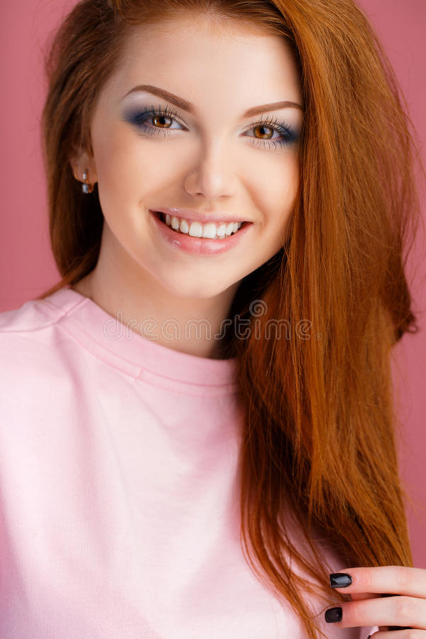 Studio Portrait Of A Beautiful Woman Stock Photo - Image -5026
