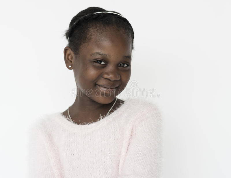 Studio Portrait Girl Shoot on White Background stock images