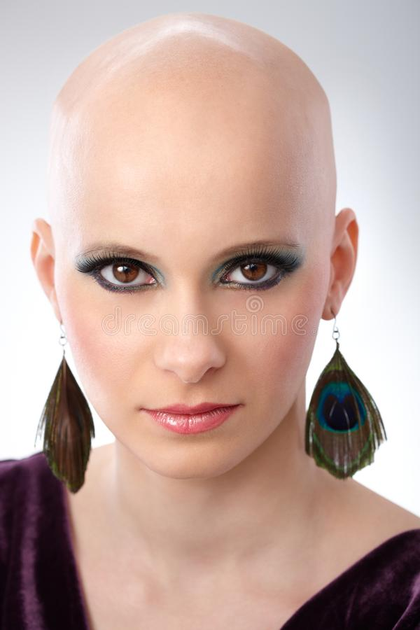 Download Studio Portrait Of Hairless Woman Stock Photo - Image: 41229374