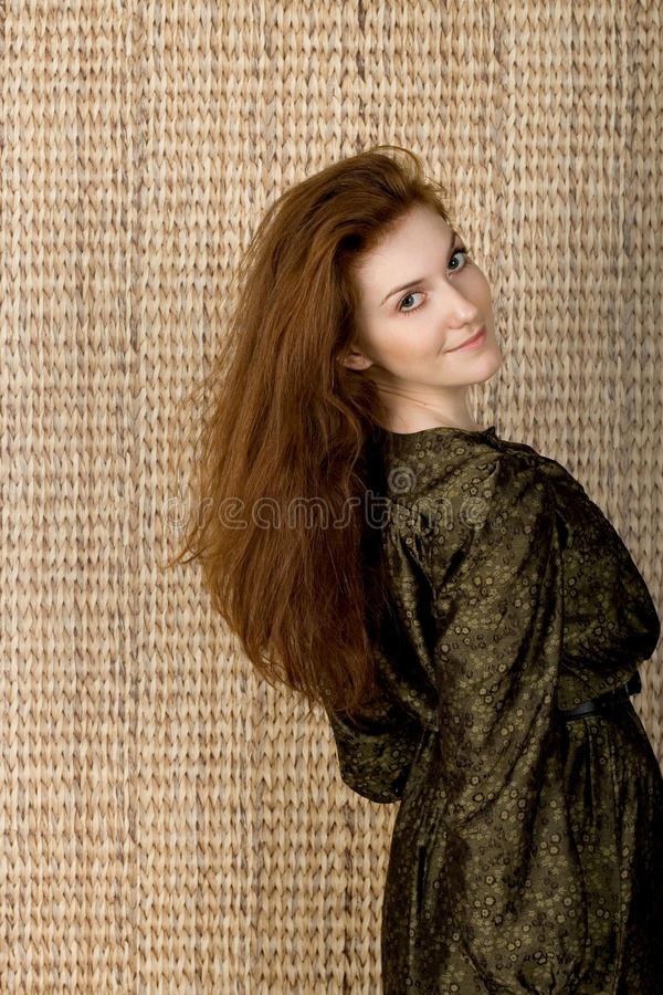 Download Studio portrait of a lady stock image. Image of green - 22970525