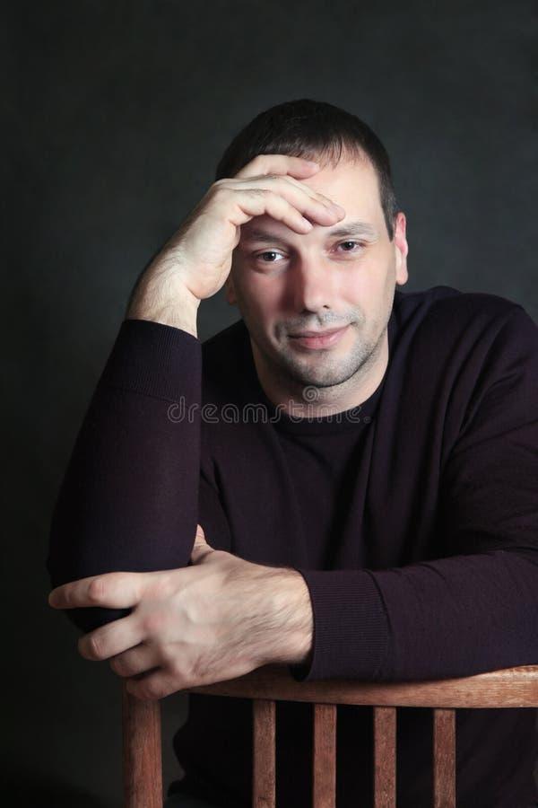 Studio portrait of man stock photography