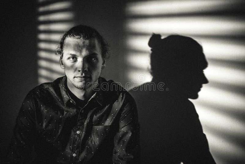 Studio Portrait Of Man In Shadows Free Public Domain Cc0 Image