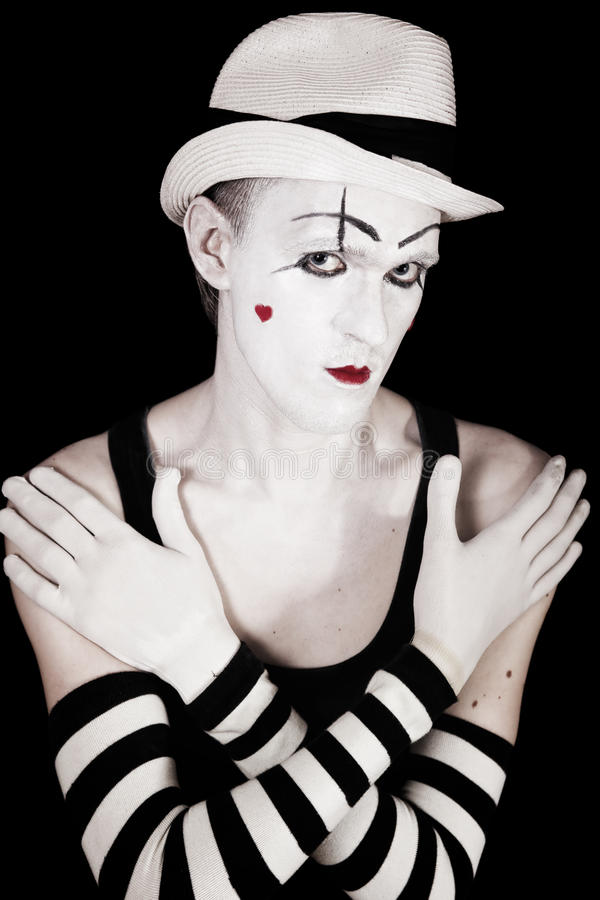 Download Studio Portrait Of Mime P Royalty Free Stock Image - Image: 25769266