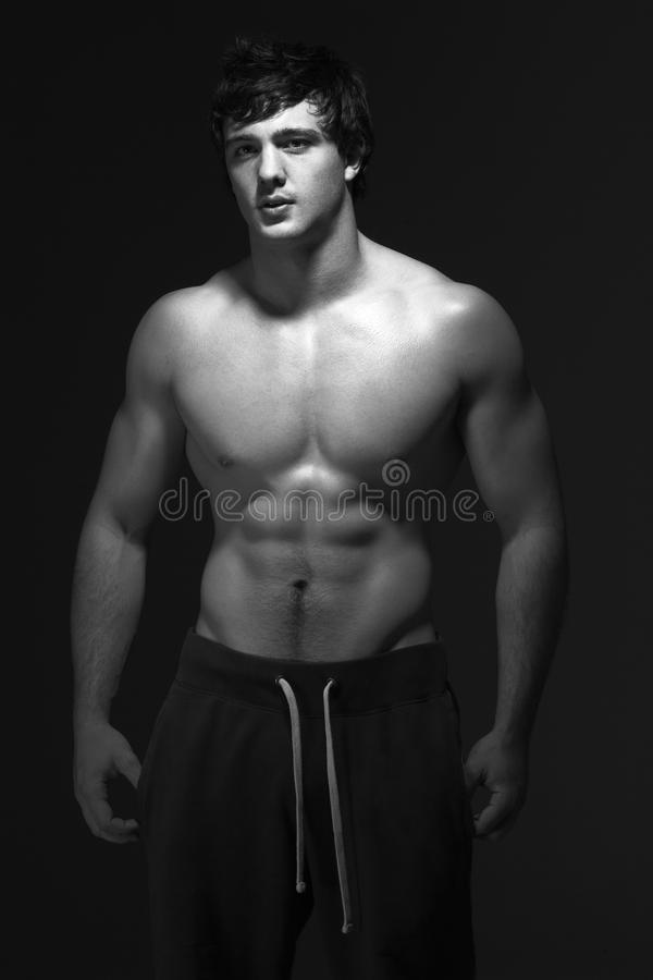 Download Studio Portrait Of Muscular Teenage Boy Stock Image - Image: 10401059