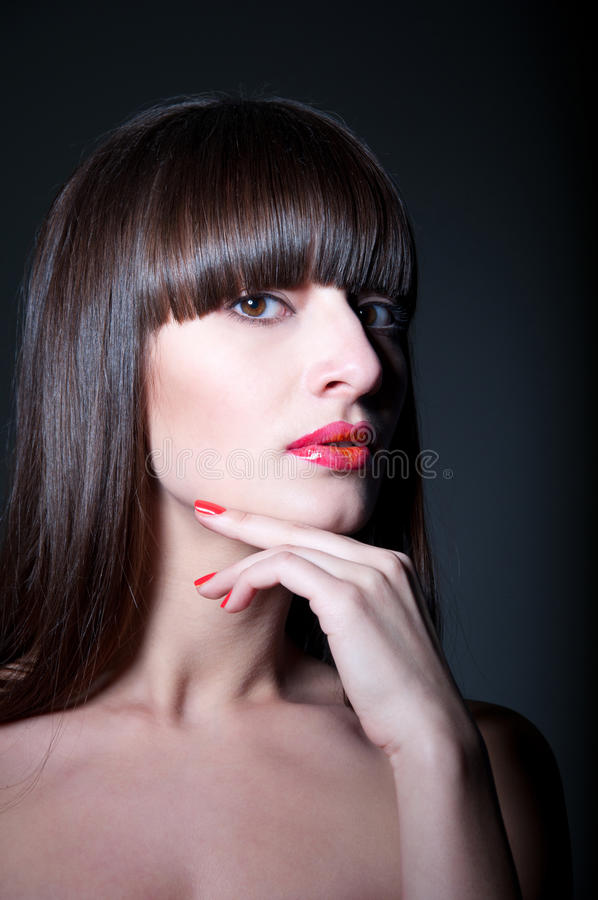 Download Brunette Girl Three Fourth Portrait Royalty Free Stock Photos - Image: 29998028