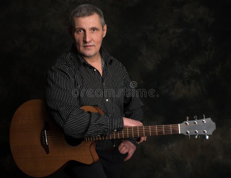 Studio portrait of senior man stock photos