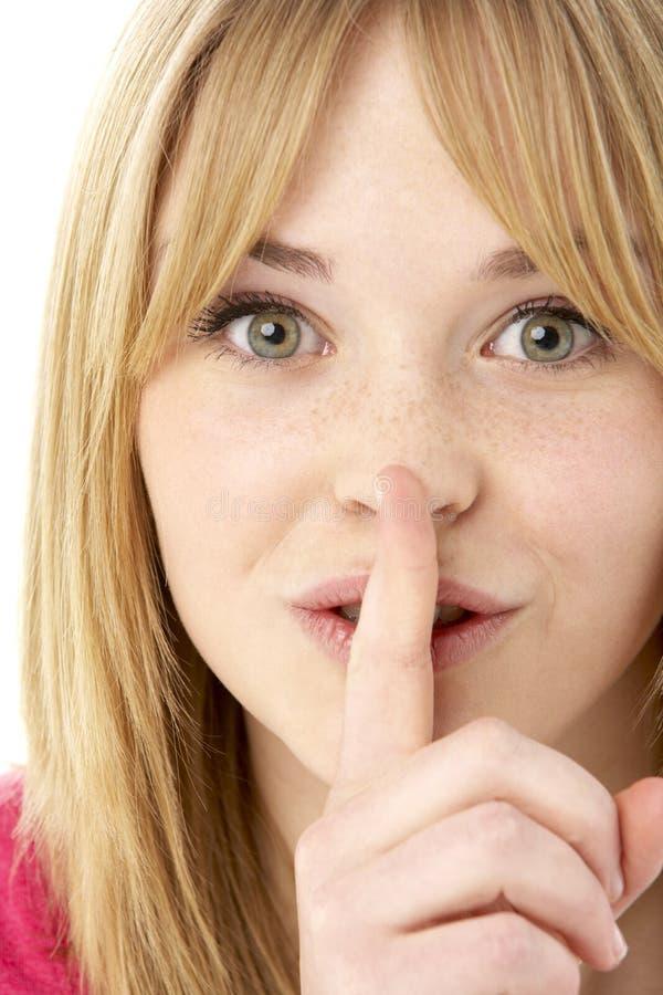 Download Studio Portrait Of Surprised Teenage Girl Stock Photo - Image of portrait, teen: 10400478