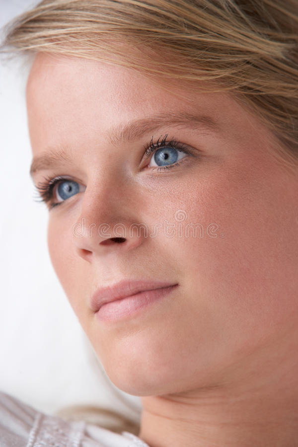 Download Studio Portrait Of Teenage Girl Stock Image - Image: 17448485