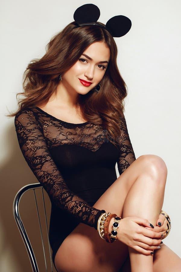 Studio portrait of women in lace underwear royalty free stock photos