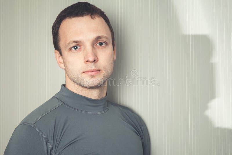 Studio portrait of young European man stock images