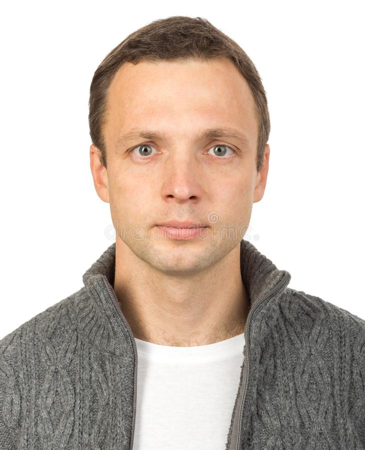 Studio portrait of young European man royalty free stock images