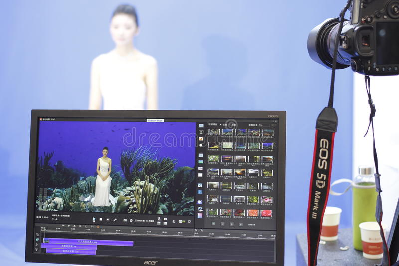 Studio post-processing system - shadow mode stock photos