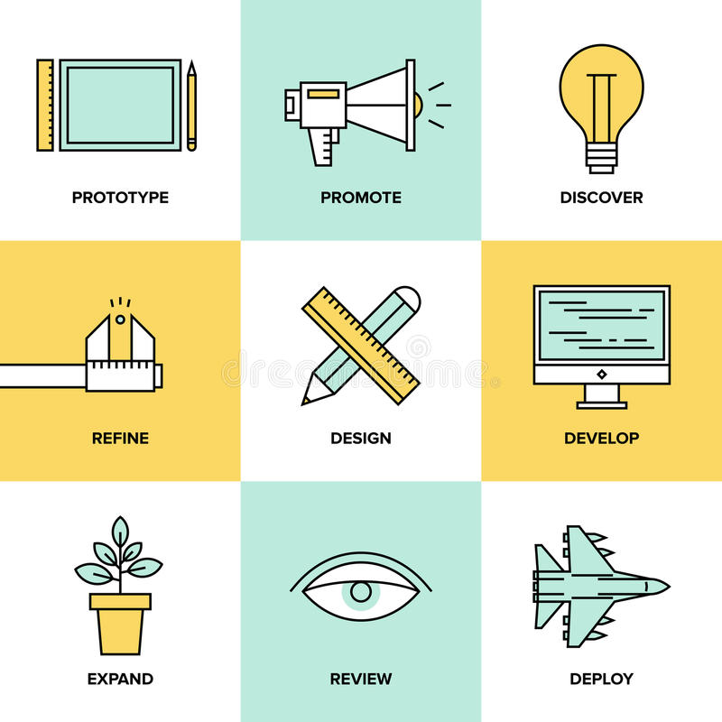 Studio product development flat icons stock vector image for Product design studio