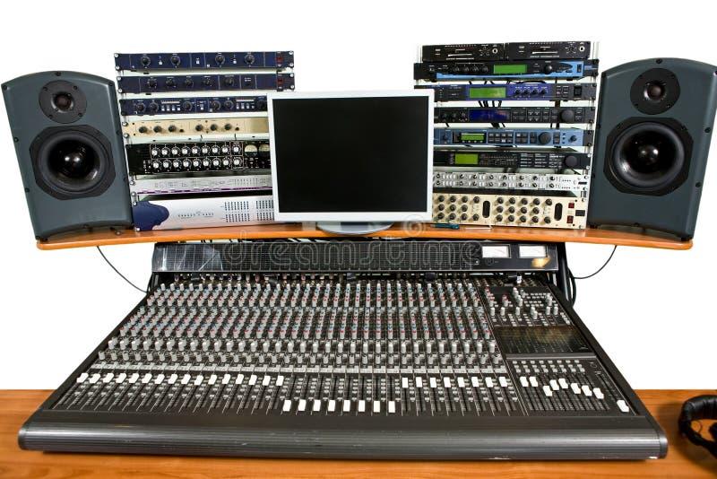 Studio recording equipment royalty free stock image