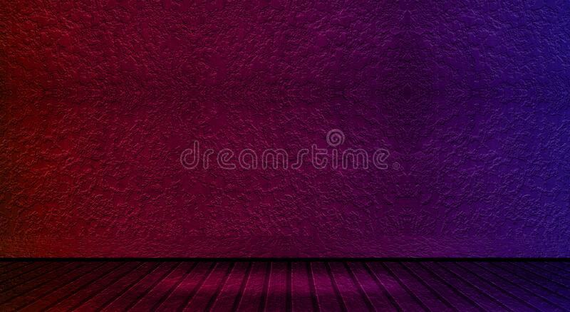 Studio room gradient background, red and blue gradient brick wall for modern design.  royalty free stock photo