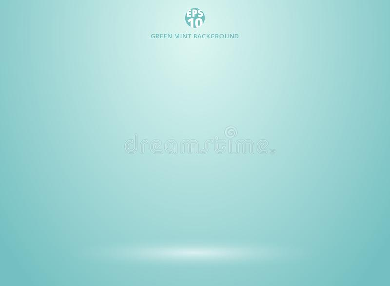 Studio room green mint background with lighting well use as Busi royalty free illustration