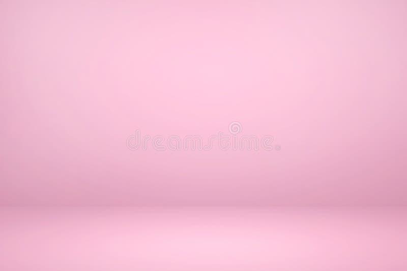 Studio rose vierge avec fond abstrait clair et ombragé illustration de vecteur
