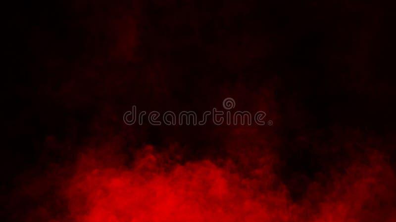 Studio rosso della fase del fumo Sovrapposizioni astratte di struttura della nebbia fotografia stock libera da diritti