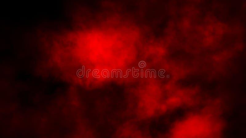 Studio rosso della fase del fumo Sovrapposizioni astratte di struttura della nebbia immagine stock