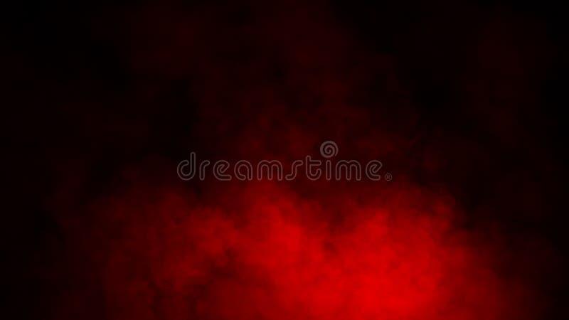 Studio rosso della fase del fumo Sovrapposizioni astratte di struttura della nebbia immagini stock libere da diritti