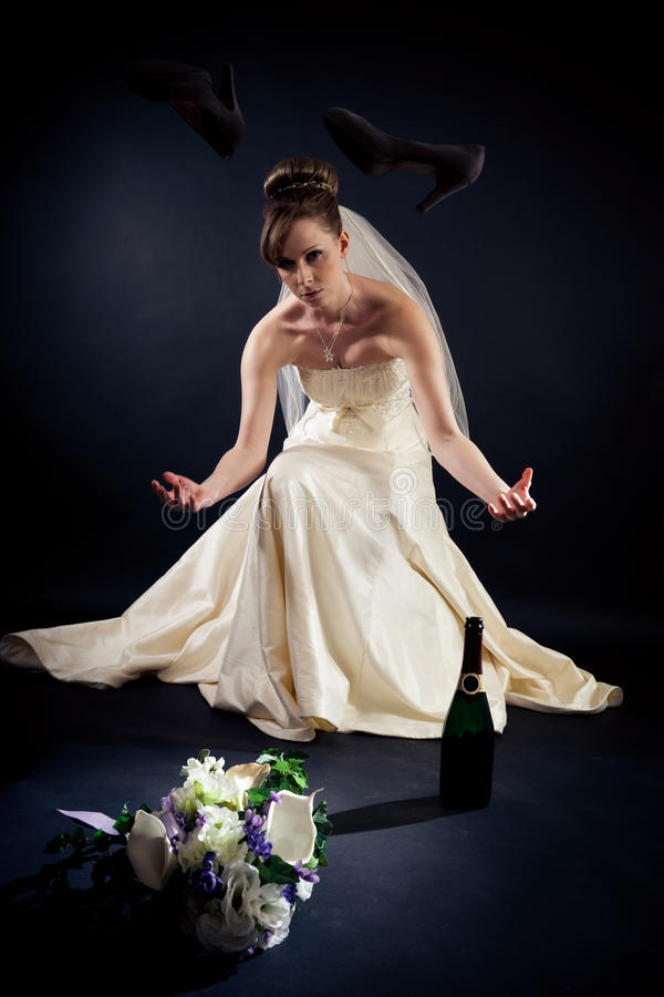 Studio Shot of a Beautiful Bride royalty free stock photography
