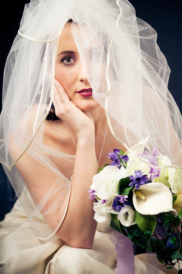 Studio Shot of a Beautiful Bride stock photography