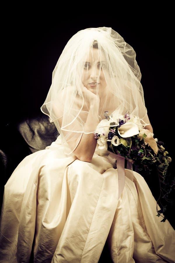Studio Shot of a Beautiful Bride stock image