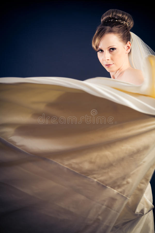 Studio Shot of a Beautiful Bride royalty free stock image