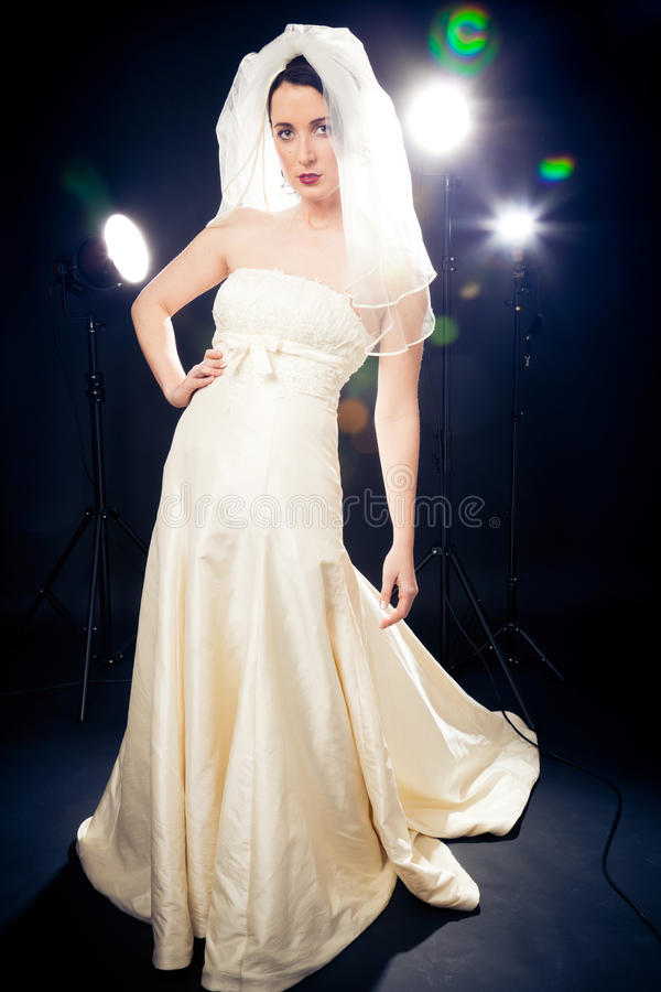 Studio Shot of a Beautiful Bride stock photos