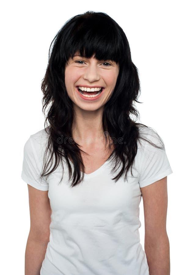 Download Studio Shot Of Beautiful Smiling Woman Stock Photo - Image of cool, model: 28796400