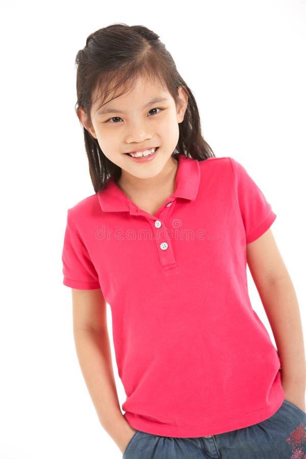 Studio Shot Of Chinese Girl Stock Image