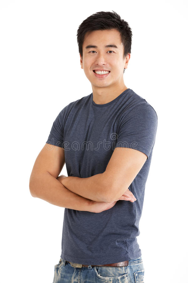 Download Studio Shot Of Chinese Man stock image. Image of looking - 26099639