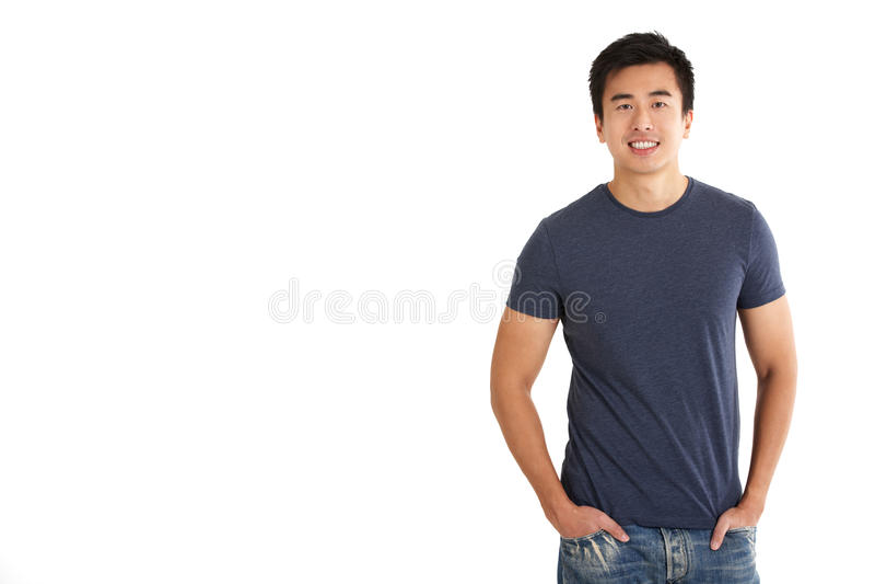 Studio Shot Of Chinese Man Stock Photography