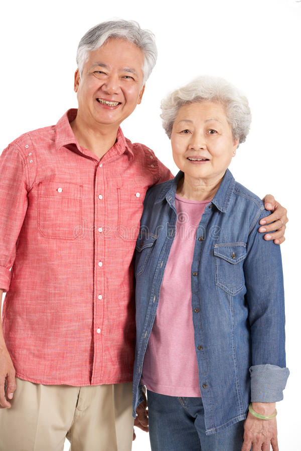 Download Studio Shot Of Chinese Senior Couple Stock Photo - Image: 26099742