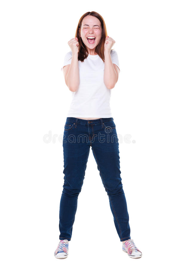 Download Studio Shot Of Emotional Young Woman Stock Photo - Image: 26401826